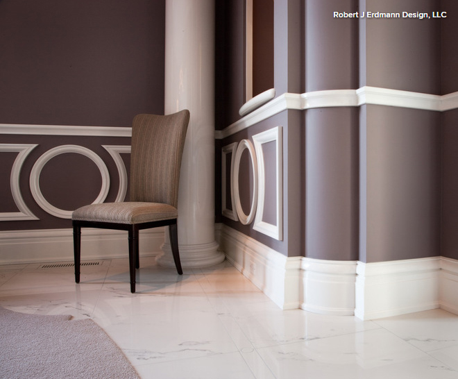 chair rails often paired with crown molding and wainscoting chair